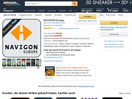 navigon europe app im wert von rund 140 euro gratis bei amazon laden. Black Bedroom Furniture Sets. Home Design Ideas