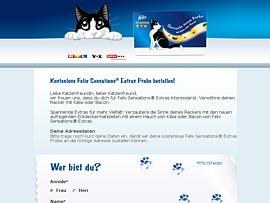 Felix Sensations Extras - Feuchtfutter-Probe gratis für die Katz