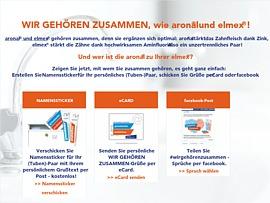 elmex versendet kostenlose Sticker-Postkarten
