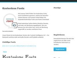 Tausende Fonts kostenlos runterladen