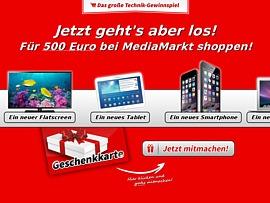 MediaMarkt: Attraktives Technik-Gewinnspiel