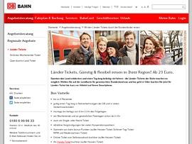 Länder-Ticket - Einen Tag ab 23 Euro mit dem Zug unterwegs