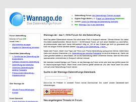 Datenrettungs-Forum  - wannago.de
