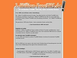 1-Million-FreeSMS.de: Simsen ohne Anmeldung und fast ohne Grenzen
