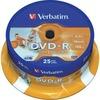 Verbatim DVD-R 4.7GB 16X Inkjet weiss 25er Spindel
