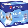 verbatim cd-r super azo print 52x 700mb bedruckbare cd-r rohlinge im jewel case 10er-pack