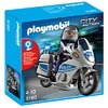 Playmobil Polizeimotorrad mit Blinklicht (5180)
