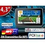 navgear 4,3 navigationssystem streetmate rs-43-3d 43 länder europa