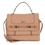guess chandelle top handle flap - tan multi