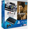 ps3 - konsole slim 500gb (superslim) uncharted: drakes deception goty & gran turismo 5: academy edition