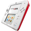 Nintendo 2DS weiß/rot + New Super Mario Bros. 2 (Special Edition)