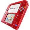 Nintendo 2DS Transparent Rot