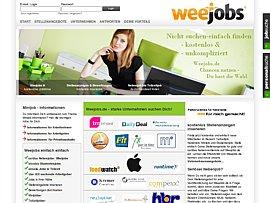 Weejobs - Stellenbörse für Neben-, Teilzeit- und Studentenjobs