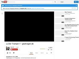 Der Tramper - Werbespot für geizkragen.de bei Youtube