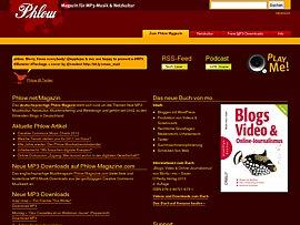 Phlow - Magazin für MP3-Musik und Netzkultur