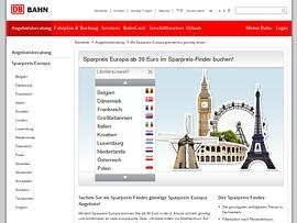 Bahn - Mit dem Sparpreis Europa ab 39 Euro reisen