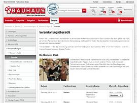 Womens Week - Mit Bauhaus kostenlos zur perfekten Handwerkerin