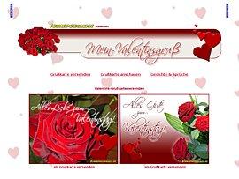 Grußkarten zum Valentinstag betten Euren Schatz auf Rosen