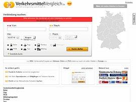 VerkehrsmittelVergleich.de - Schnell mit dem günstigsten Verkehrsmittel ans Ziel