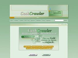 Mit CashCrawler für Startseitenaufrufe, das Lesen von Emails, Surfbar, Popups und das Werben von Mitgliedern Geld kassieren