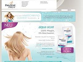 Pantene Pro-V Aqua Light Shampoo und Pflegespülung als Gratisprobe