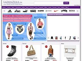 Ladenzeile - Online-Shops für Möbel, Mode und Schuhe inklusive Preisvergleich