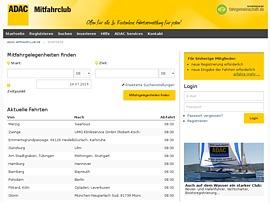 ADAC Mitfahrclub - Mit Mitfahrgelegenheiten Geld sparen