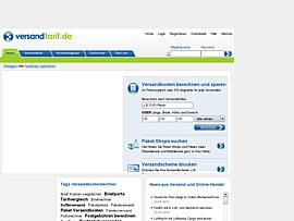 Versandtarif.de - Versandauftrag direkt vom Rechner aus starten