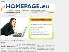 Kostenlose eigene Homepage erstellen