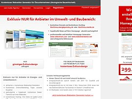 Kostenlose Homepage für Firmen, Handwerker und Dienstleister für Energie und Umwelttechnik
