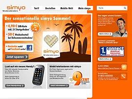 Prepaid Karte bei Simyo rechnerisch kostenlos bestellen