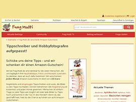 Frag-Mutti.de und Frag-Vati.de verteilen Amazon Gutscheine gegen die besten Tipps, Fotos & Videos