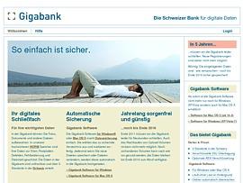 GigaBank - Tresor für die wichtigsten Daten
