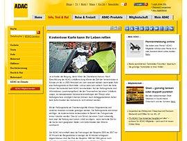 ADAC Rettungskarte zum kostenlosen Download