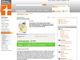 Kuchenmaschinen Von Stiftung Warentest Getestet