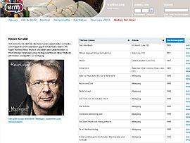 Reinhard Mey stellt Noten zu seinen Liedern zum kostenlosen Download bereit