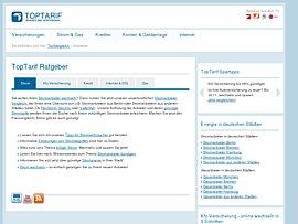 TopTarif - Strom-, Gas- und DSL-Anbieter sowie Versicherungen, Geldanlagen und Kredite