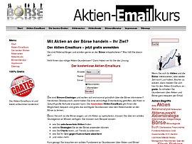 Kostenloser Aktien-E-Mailkurs