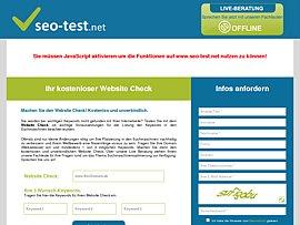 Website Check zur Suchmaschinenoptimierung - Kostenlos und unverbindlich