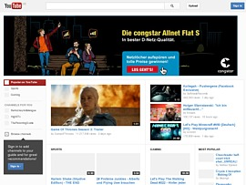 YouTube zeigt kostenlos Kinofilme in voller Länge