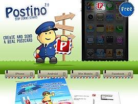 Kostenlose App fürs Handy - Postino verschickt Postkarten per Handy