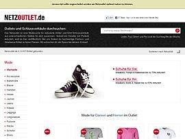 Netzoutlet - Mode-Suche für reduzierte Artikel und Schlussverkäufe unterschiedlicher Outlets