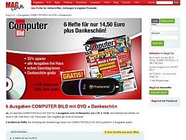 Computerbild mit DVD und Gratis USB Stick