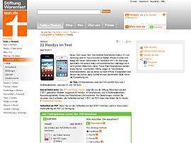 Samsung Galaxy S2 überholt iPhone 4 – Beste Smartphones im Test bei Stiftung Warentest