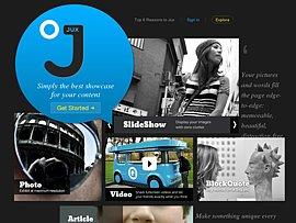 Soziales Netzwerk Jux.com im Tablet-Design