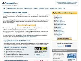 Tagesgeld.org - Vergleichs- und Informationsportal rund ums Tagesgeld
