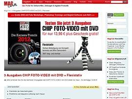CHIP FOTO-VIDEO mit DVD und Flexistativ