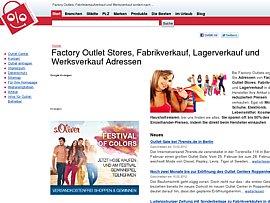 Outlet Stores - Mode und Marken im Fabrik-, Lager- oder Werksverkauf