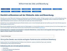 Jobs und Bewerbung - Infos und Vorlagen