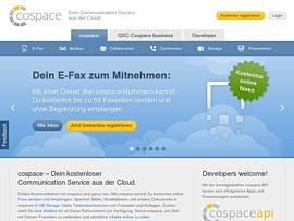 Cospace - Kostenloser Fax-Dienst, virtueller Anrufbeantworter und Telefonkonferenzen